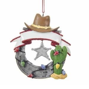Horseshoe with Hat & Cactus